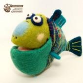 Рыб-кловун, сине-зеленый коралловый дурашка